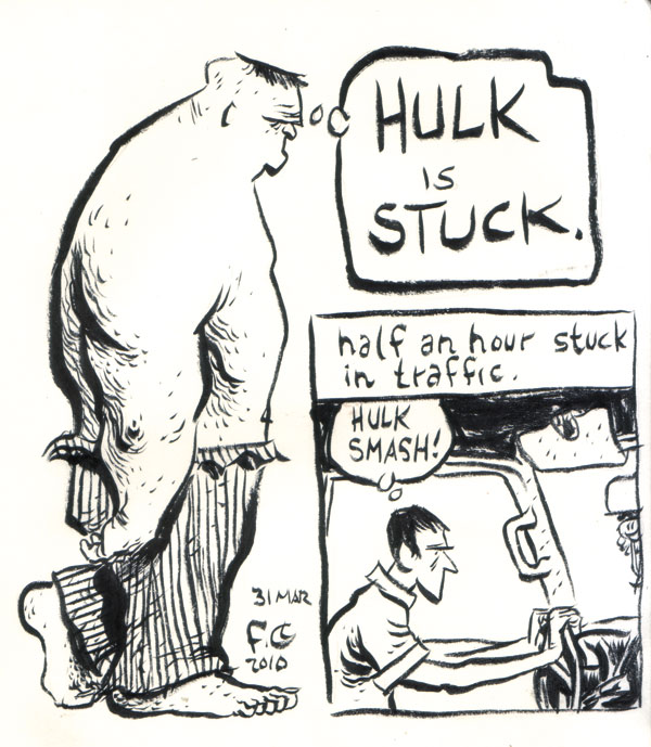 hulk is stuck