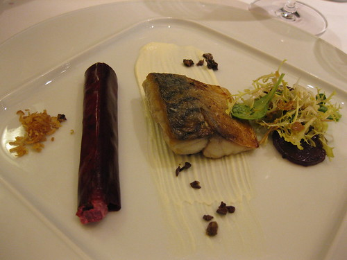 vau mackarel with rootbeet canneloni
