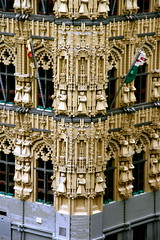 Leuven town hall in Lego - detail (Scorpions and Centaurs) Tags: park uk windows england building leuven architecture europe lego belgium britain bricks gothic creative theme windsor amusementpark townhall creating legoland constructing miniland