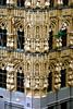 Leuven town hall in Lego - detail (Scorpions and Centaurs) Tags: park uk windows england building leuven architecture europe lego belgium britain bricks gothic creative theme windsor amusementpark townhall creating legoland constructing miniland