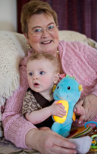 with Grandma and seahorse