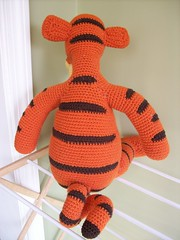 Crocheted Tigger back