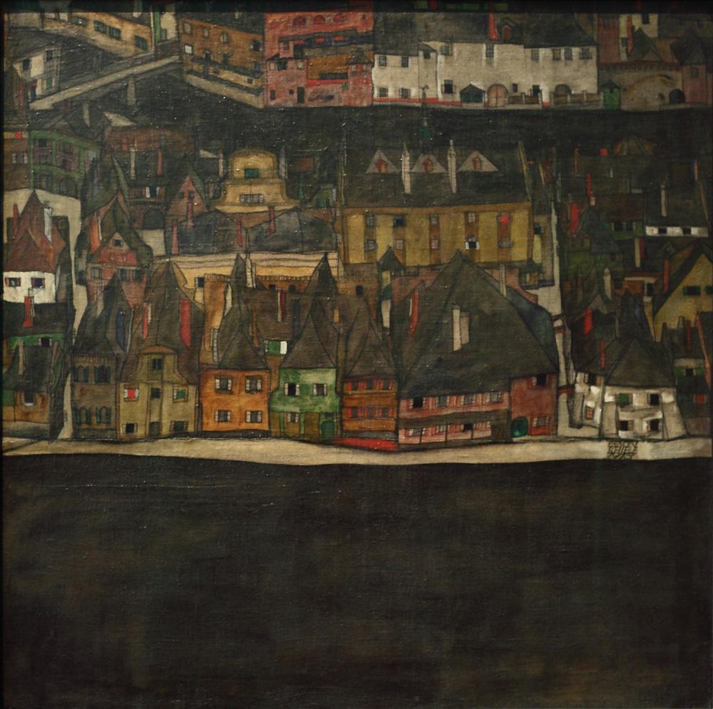 Egon Schiele, Die Kleine Stadt II [The Small Town II], 1912-1913