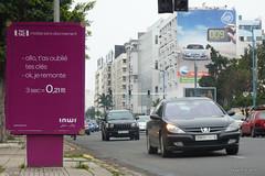 Casablanca : Panneau publicitaire (-AX-) Tags: sign casa downtown ad morocco maroc advert casablanca pancarte centreville affiche