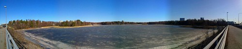 Otsonlahti spring melt panorama