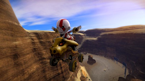Kratos gets a Kart in ModNation Racers!