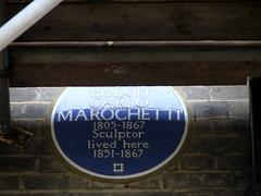 Photo of Carlo Marochetti blue plaque