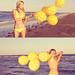 Itsy-bitsy-yellow-polka-dot bikini by Leslii
