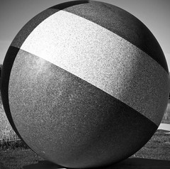 containment (Tau Zero) Tags: sculpture magritte squaredcircle framing squaringthecircle squarecircle stoneball thelisteningroom