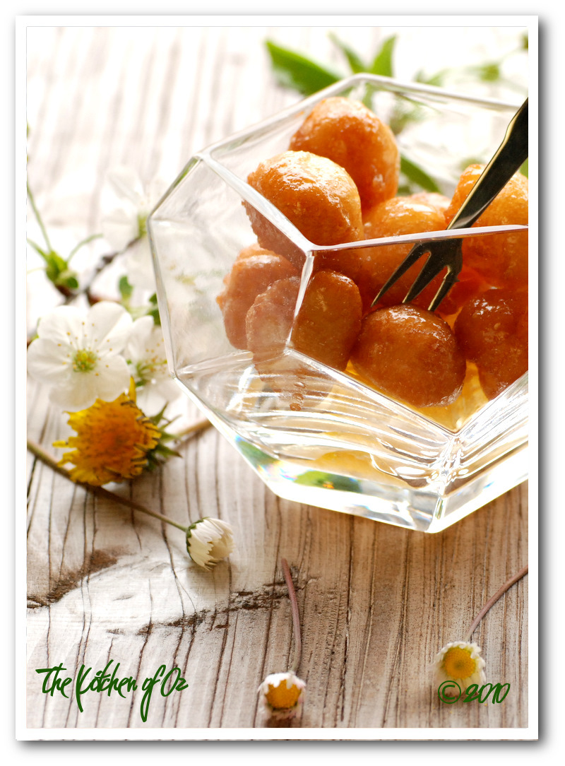 Fritters in Honey Syrup
