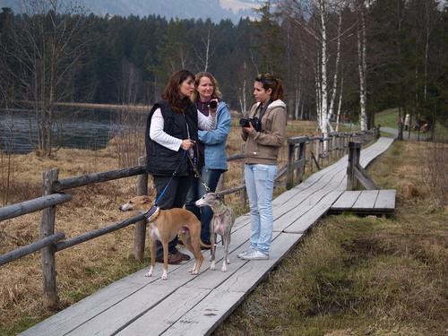 Sabine, Simone und Selina am Schwarzsee