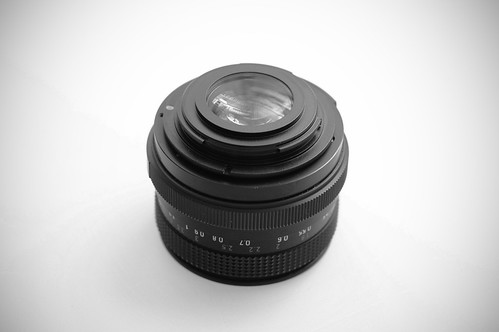 Pentacon 50mm mit Adapter