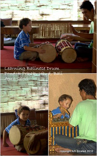 Learning Balinese Drum by ab2010