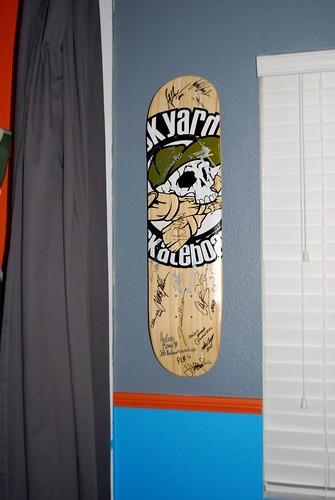 Mounted Skateboard Deck for Display