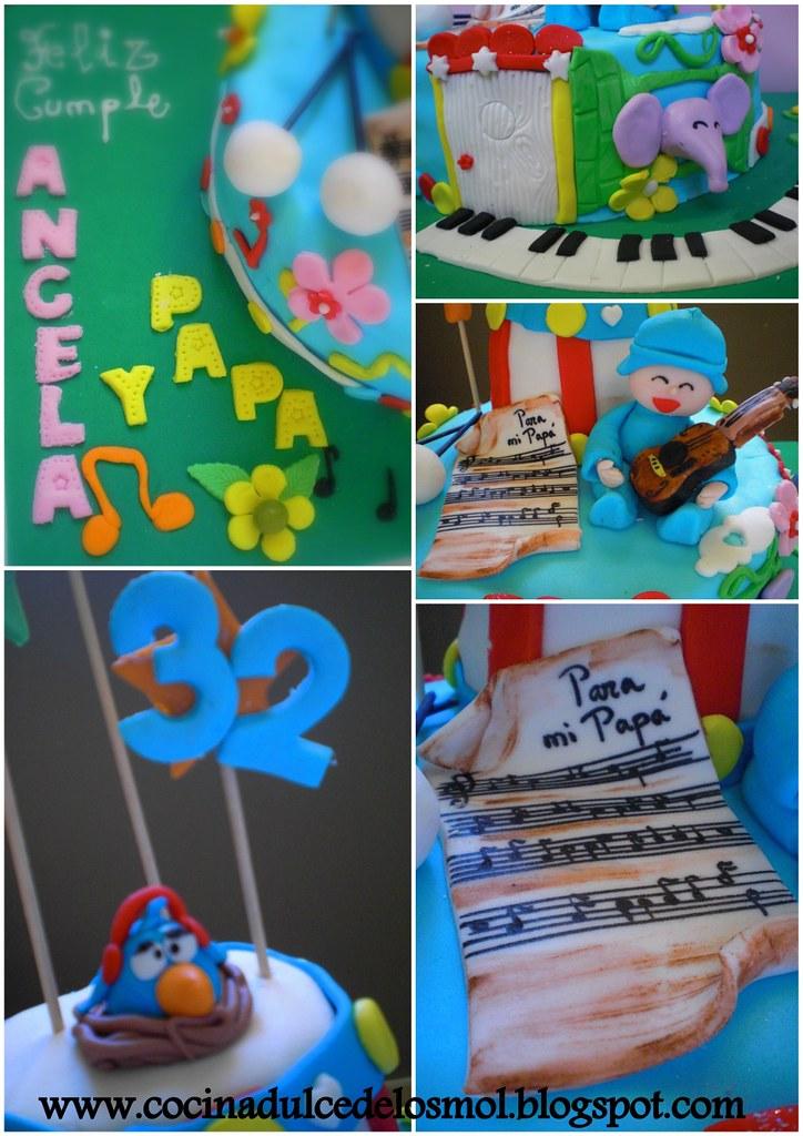2 POCOYO CAKE - TARTA POCOYO MUSICAL ANGELA Y PAPA