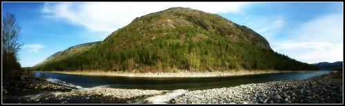 Murphy Creek Meets the Columbia - Panorama