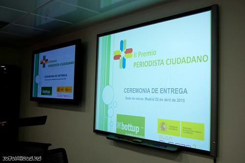 Crónica entrega de premios del II premio Periodista Ciudadano