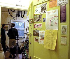 entrance to the bike room (by: Elly Blue, creative commons license)