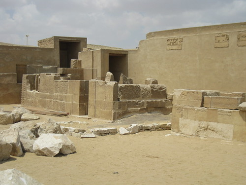 The exterior of Kagemni's Tomb?