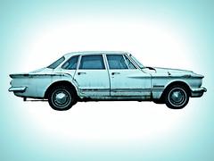 The Family Car (Flint Foto Factory) Tags: city urban chicago classic car sedan cutout spring 60s aqua broadway plymouth american april hood valiant 1960s chrysler mopar 1962 edgewater compact 2010 4door worldcars