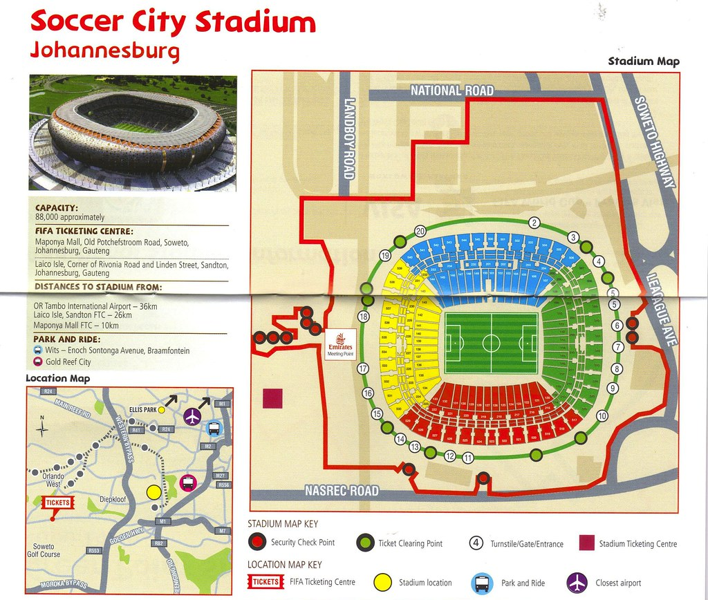Fifa 2010 World cup: Johannesburg Soccer City Stadium aka National Stadium