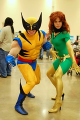 Wolverine and Jean Gray at Pittsburgh Comicon 2010 (Scott Michaels) Tags: phoenix comics pittsburgh super center convention hero mutant logan marvel monroeville comicon wolverine 2010 darkphoenix jameshowlett nikon35mm jeangray marvelgirl nikond40
