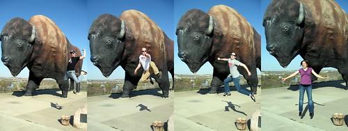 North Dakota Buffalo Jump Collage