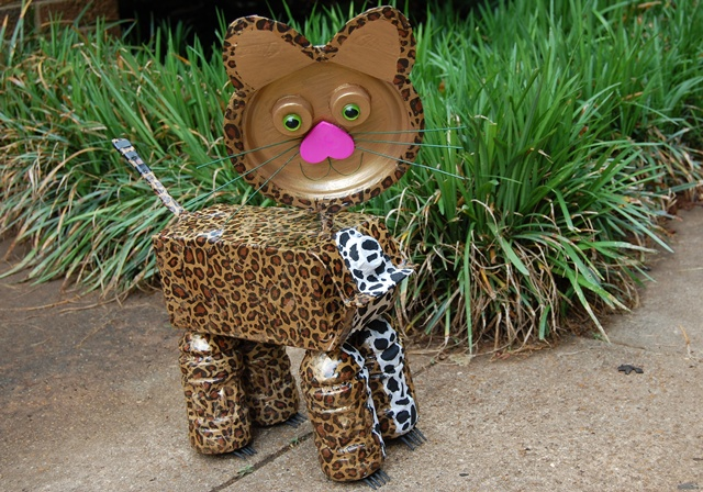 We made a jaguar for a school project…