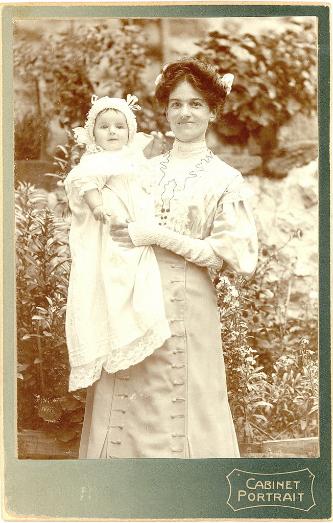 Mother and Child Cabinet Card - 1910