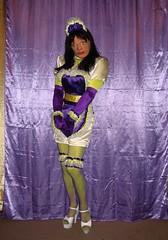 Laker Maid (phit2btyd) Tags: fetish apron sissy satin maid crossdress submissive femalemask