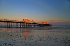 Worthing Pier Sunset - HDR (EJ Bergin) Tags: sunset sussex pier worthing hdr