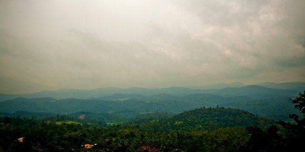 View from Manjrabad, Sakleshpur - Chitra Aiyer Photography
