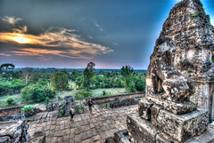 Tempels of Angkor (Markus Rappan) Tags: wood sky sun color green architecture contrast landscape nikon colorful sigma anchor ankor 1020mm angkor 1020 hdr tempel wideangel 10mm camodia d80 siemrep