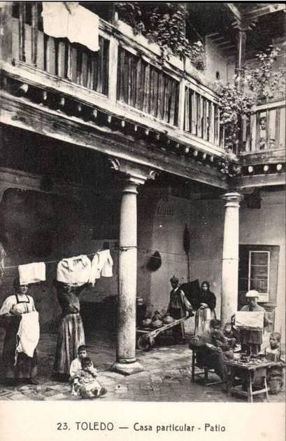 Patio toledano a principios del siglo XX