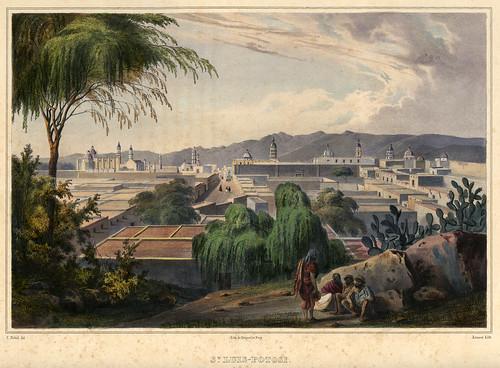 014-Vista de San Luis de Potosi-Voyage pittoresque et archéologique dans la partie la plus intéressante du Mexique1836-Carl Nebel