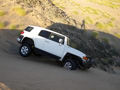 fj cruiser on tilt-1 (shine_on) Tags: inch lift desert mud offroad 4x4 dunes 4 toyota jeddah suv fj landcruiser saudiarabia cruiser rains     bahra    feshfesh  70series