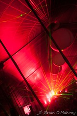Great Red Balls Of Fire (Brian O'Mahony) Tags: red party festival photography photographer time clubbing wideangle lasers nightlife housemusic trance nightclubbing djing lazers creamfields dancemusic daresbury sigma1020mm brianomahony canon40d thephotographiceye