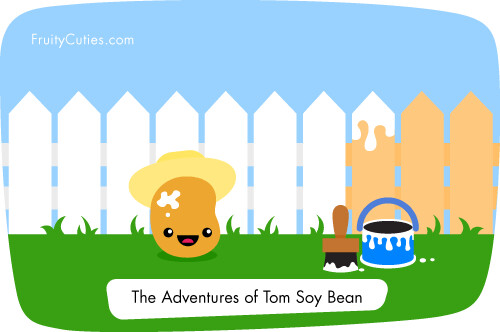 Soy Bean joke - Cute Kawaii Cartoon