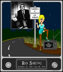 Submitted For Your Consideration (Sir Basil Birchbottom) Tags: bimbo pinup sixties thetwilightzone rodserling girliecartoon