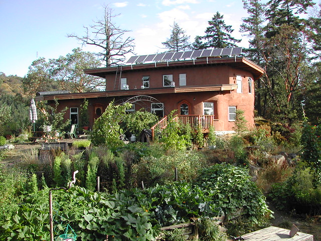Eco-Sense home with rain water irrigated gardens