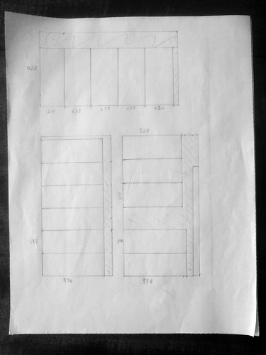 Drawer cutting plan