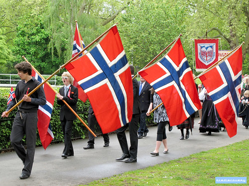 Norwegian Constitution Day parade, Southwark Park