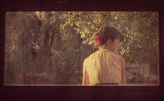 yesterday's reflections (julia farrell) Tags: light selfportrait texture vintage layers framing picnik