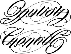 """Bautista"" & ""Capacillo"" Ambigram"