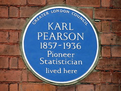 Photo of Karl Pearson blue plaque