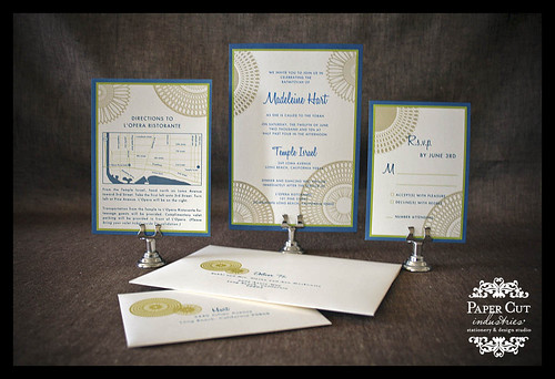 Custom Barmitzvah or Batmitzvah Invitations in Orange County or Los Angeles County