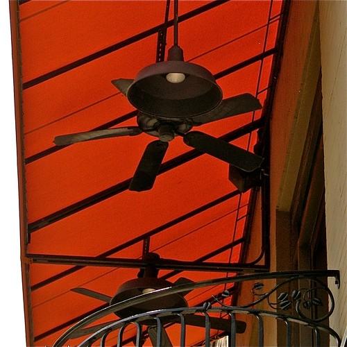 Orange awning