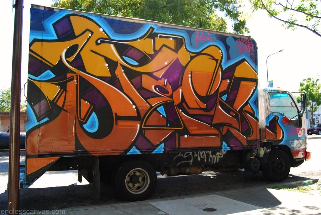 Steel Truck Graffiti Berkeley California.
