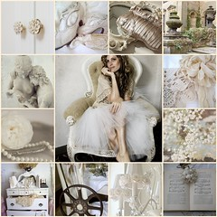 ~Second Time Around...~ (~Romantic~Vintage Home~) Tags: wedding roses woman texture clock lamp floral statue lady vintage fdsflickrtoys shoes ivory pearls lovers purse romantic whites sconce dresser tulle creams urns babysbreath vintagebook moviereel drawerpulls frenchchair