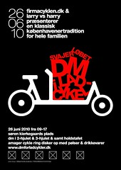 Poster for Danish Cargo Bike Championships 2010 / Svajerløb [2wheeler]